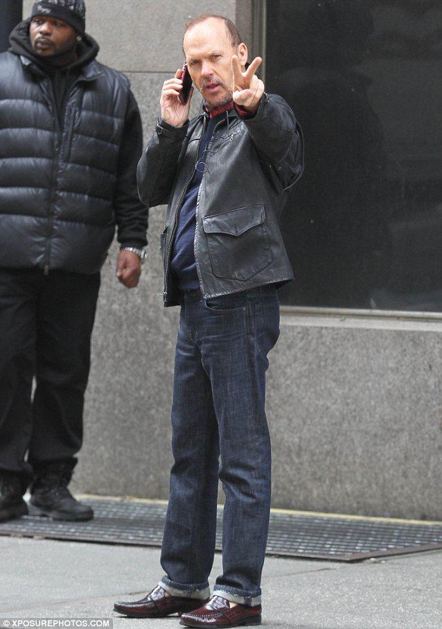 Stellar cast: Michael is joined by Emma Stone, Zach Galifianakis, and Naomi Watts in Birdman
