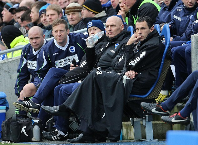 Potential: Brighton boss Gus Poyet is a strong candidate for the role