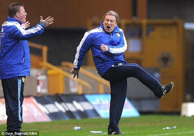 Anger: Warnock moved to Leeds in February 2012, and after a string of bad results resigned this week