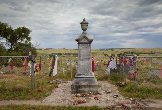 Anger: The Wounded Knee Massacre site and mass grave -the site where U.S. troops killed up to 300 Native American men, women and children in 1890 is up for sale