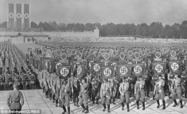 19 Sep 1938, Nuremberg, Germany: The latest plans for a 'sun gun' were only discovered when Allied troops rooted through Nazi plans after the end of the war