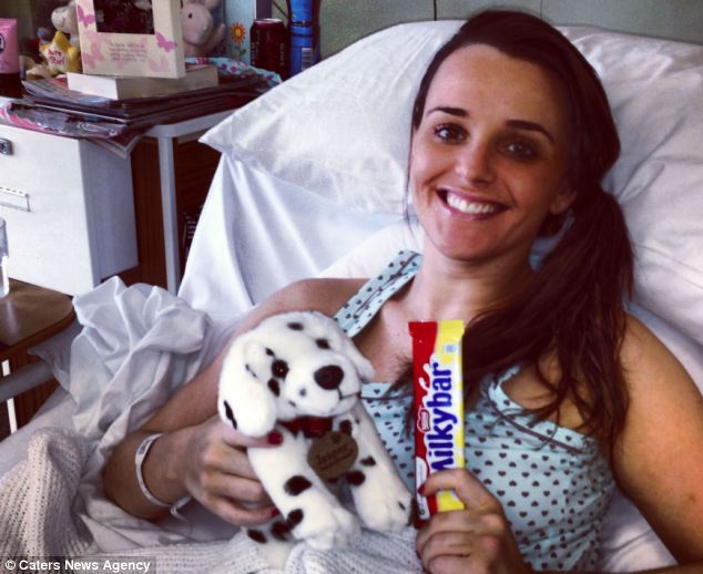 She underwent a seven-hour operation to stabilise her spine and was walking again ten days later