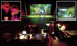 This is Sunken Garden, the world's first 3D film opera. It's being rehearsed in a cavernous film studio, just a javelin's throw from London's Olympic Park