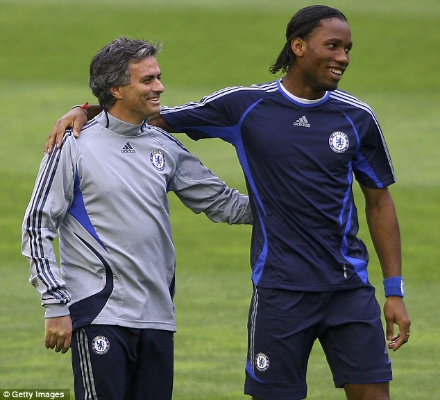 The good times: Jose Mourinho (left) and Didier Drogba got the best out of each other at Chelsea