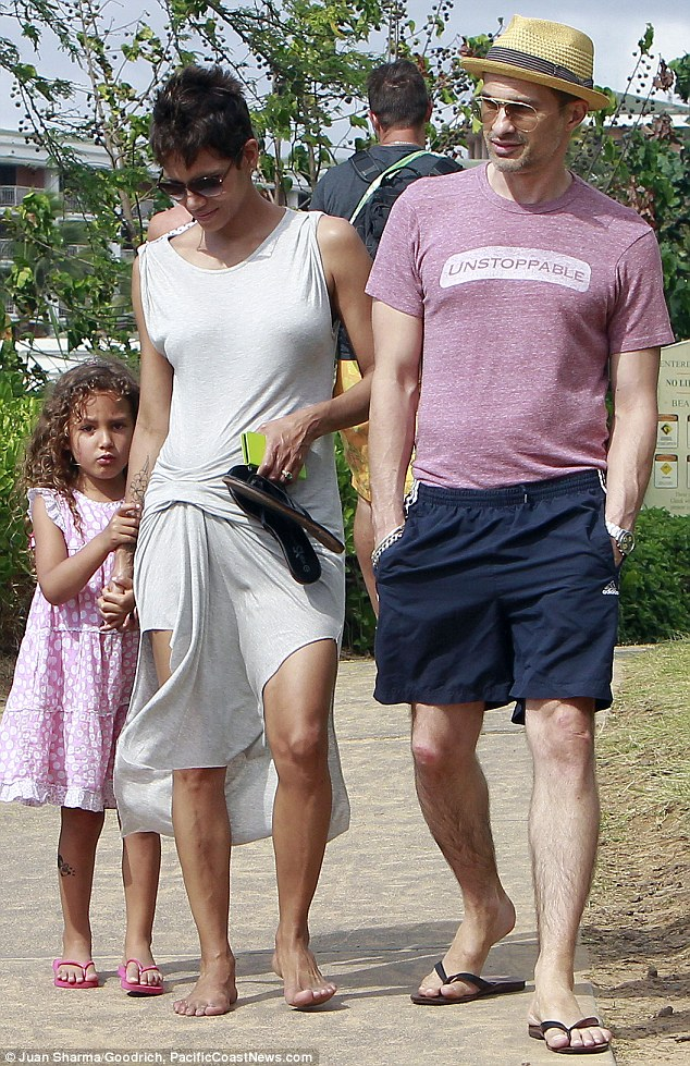 Family trip: Halle and Olivier took Nahla to Hawaii over the Easter break
