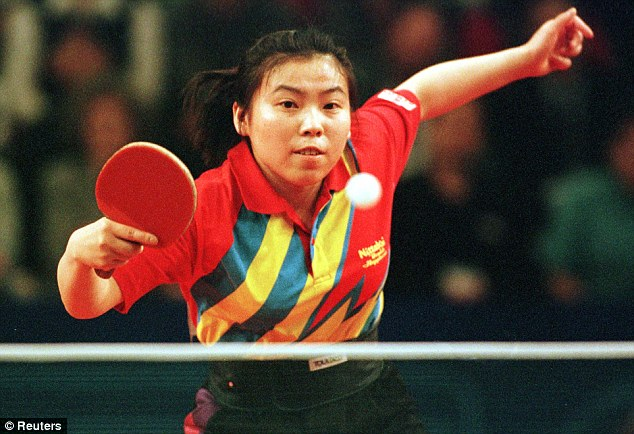 Former champion: Deng Yaping, who won four Olympic gold medals, was regarded as one of the sport's best