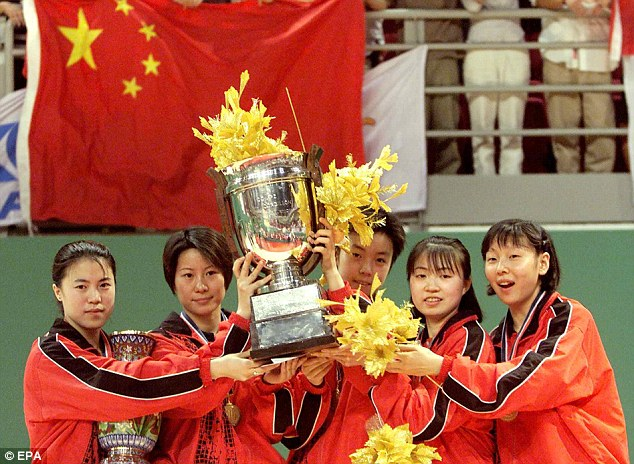 Dominance: The Chinese table tennis team are no strangers to winning trophies