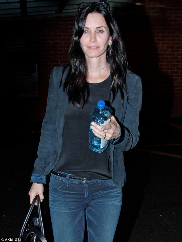 Actress Courteney Cox doesn't shy away from photos when she is make-up free
