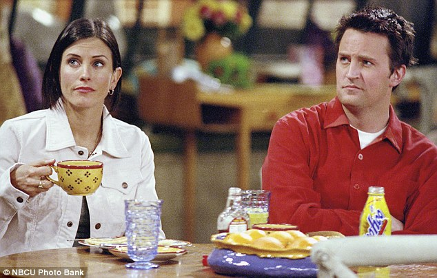 Back in the day: Courteney as Monica Geller in the hit '90s show Friends