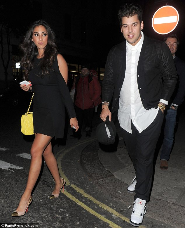 Out for dinner: On Tuesday Rob and Naza enjoyed dinner at Nobu in Mayfair