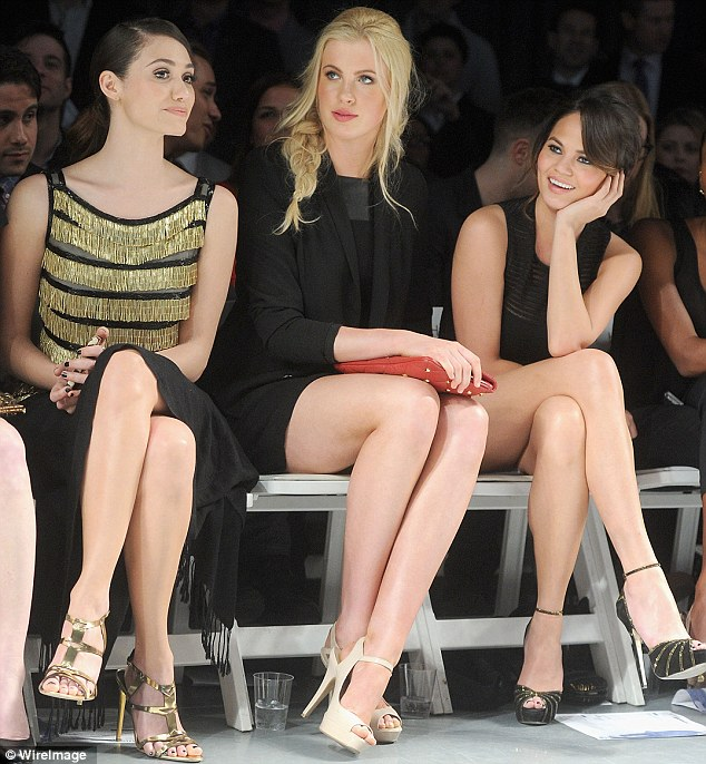 Well-heeled: Ireland fit right in at the front row of the Jeffrey Fashion Cares event on Tuesday