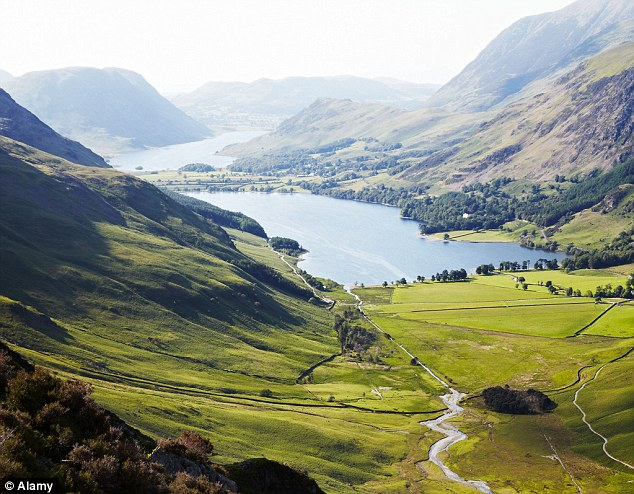 Green and pleasant land: An evening view of Crummock Water from Hay Stacks in the Lake District