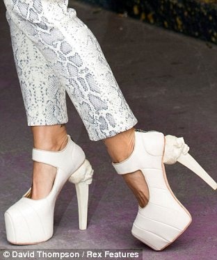 Gothic: The shoes are by Filipino designer Kermit Tesoro, who used to intern at Alexander McQueen