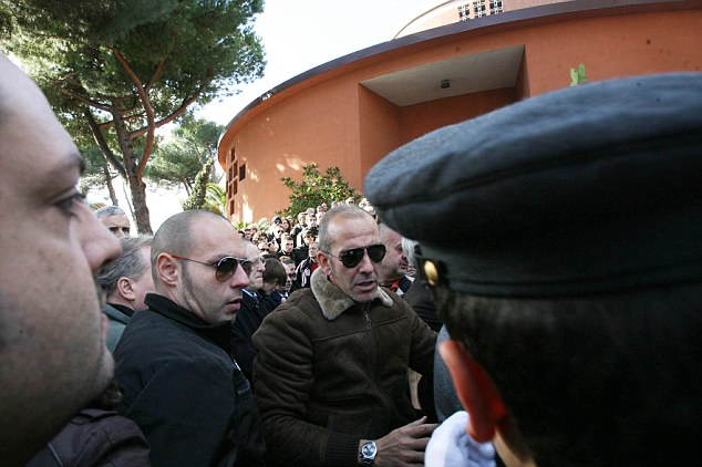 In attendance: Paolo Di Canio was at Paolo Signorelli's funeral, who was linked with a terrorist bombing