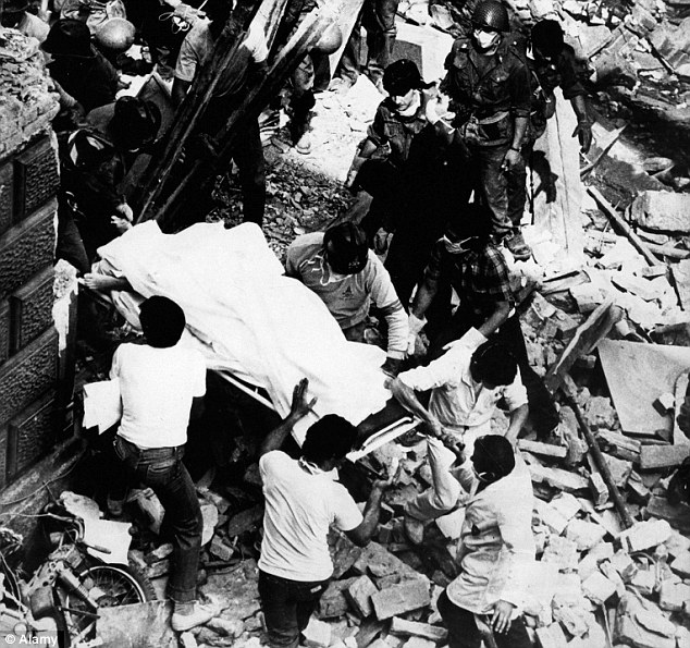 Devastation: The Bologna train station bombing left 85 people dead