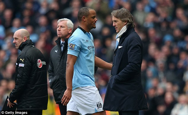 Frosty? The relationship between Kompany and Roberto Mancini appears strained