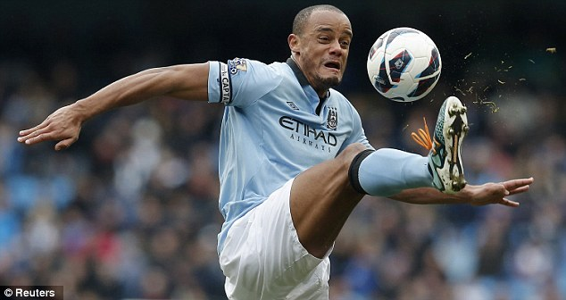 Hungry: Manchester City captain Vincent Kompany is targeting victory over Manchester United