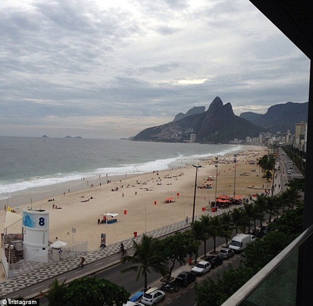 Throwback Thursday: 'Will never forget playing this beach w/ the Peas 4 New Year's. #tbt Bye Rio. I love you' the singer tweeted