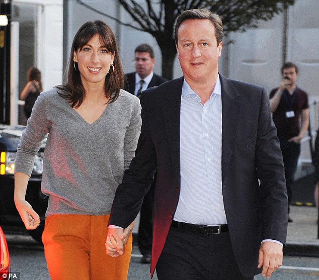 Fan: Samantha Cameron wearing trousers and grey top from Zara which has been accused of using slave labour at factories in Argentina