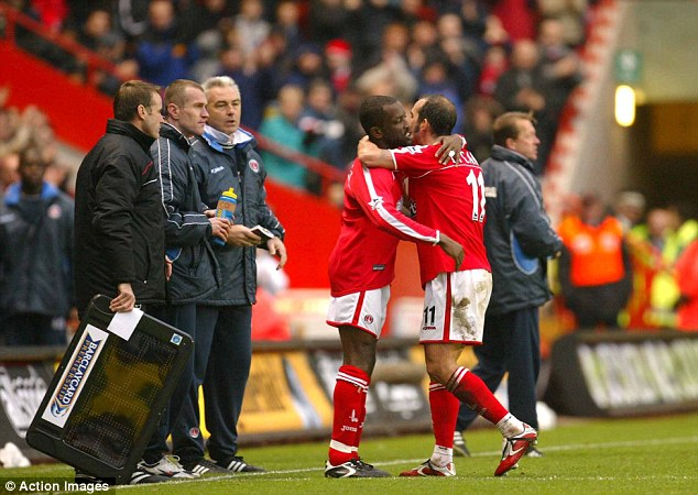 Mates: Di Canio stated that Chris Powell was one of his best friends when the pair were at Charlton