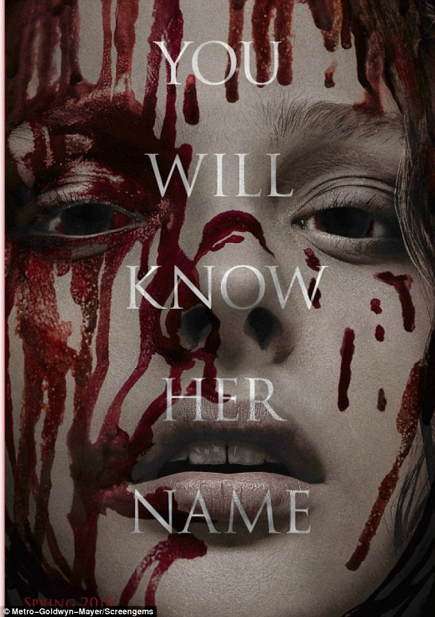 Coming soon: Chloe makes a blood-spattered turn in the remake of Stephen King's famous novel Carrie