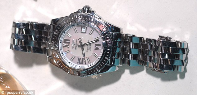 Champagne lifestyle: The luxury Breitling watch owned by corrupt Detective Constable Nicholas McFadden