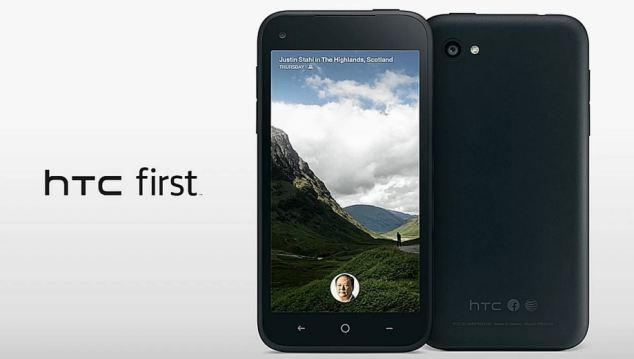 The HTC first will be the first handset to launch with Facebook's software preloaded on it