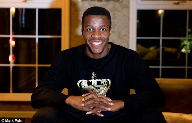 All smiles: Zaha relaxes at his south London home
