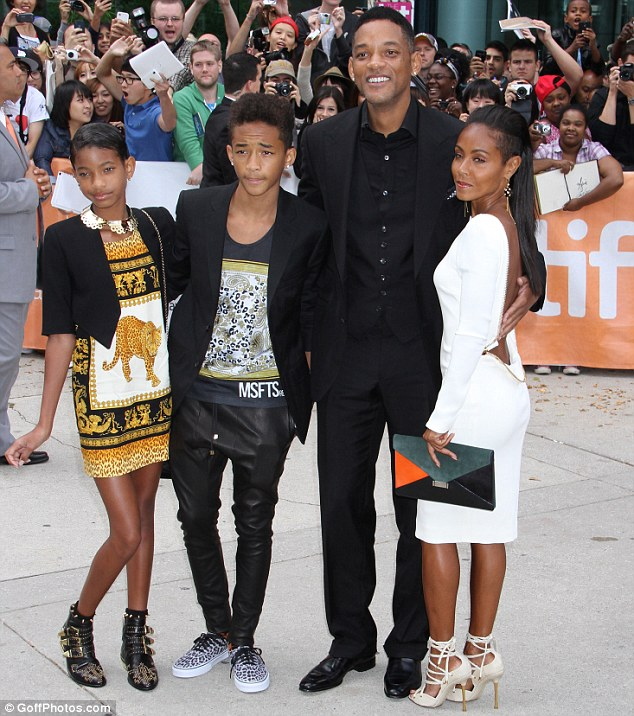 Family: The couple are parents to Willow and Jaden Smith, pictured together on September 9, 2012