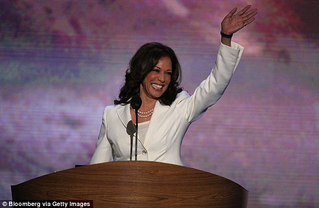 Rising star: Many speculate that Ms Harris, the current Attorney General for California, could go on to run for governor of the state or even serve on the Supreme Court