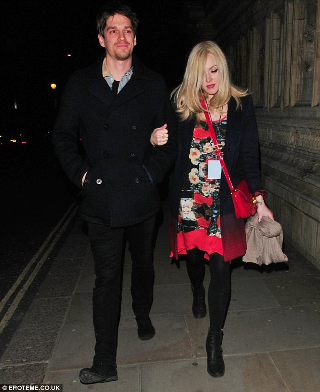 Proud parents: Fearne and her partner Jesse Wood welcomed their son Rex into the world last February