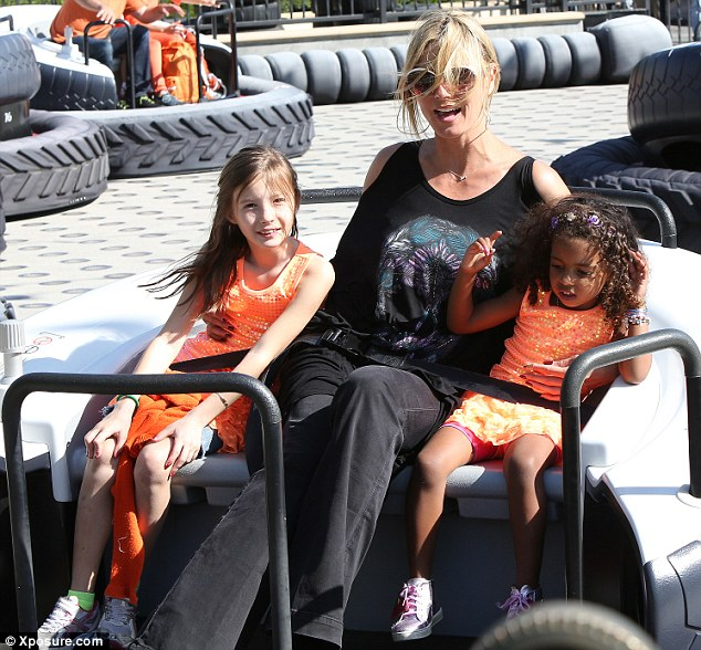 Treating her loves: Heidi gave her kids the best of both worlds after a dramatic weekend