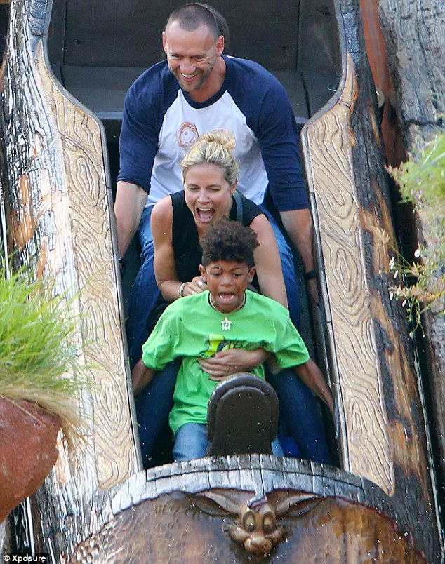 Wild time: Heidi couldn't help but scream during the adventure