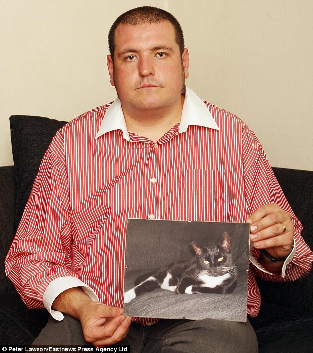 Campaign: Glen Brunsden, who lives in Dovercourt, has had three of his cats killed