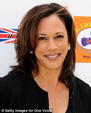 Awkward: The remark came the same day that the President called Kamala Harris (pictured) 'the best looking Attorney General' in the country