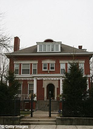 'Single': Michelle and the girls supported Barack on the campaign trail in 2004 (left) and lived in the family home in Chicago (right) while he lived in a bachelor apartment in DC