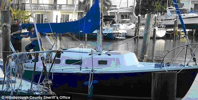 By land and by sea: Officials say suspected kidnapper Joshua Hakken recently bought a 25-foot 1972 Morgan sailboat with a blue hull, and they suspect he and his family are on it now