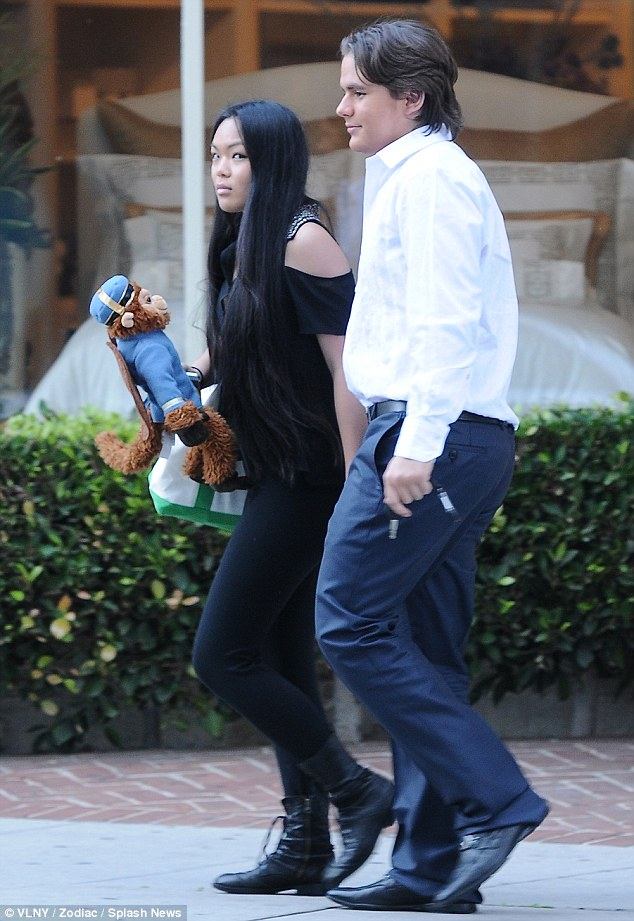His other girl: Prince was spotted out with classmate Niki Berger on February 18; the two have been seen on several dates since March 2011