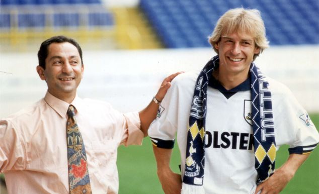 New and old: Di Canio graced the Premier League, but Ossie Ardiles (left) was the very first back in 1993 at Tottenham Hotspur