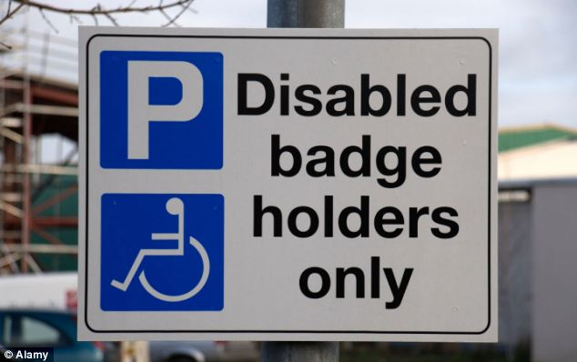 Ignoring the signs: Liz Jones parks in disabled bays as a protest against the red tape preventing people from getting disabled badges from local authorities