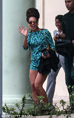 US singer Beyonce leaves the
