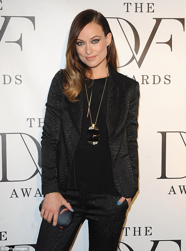 Girl power! Olivia Wilde was 'psyched' to suit up and present an award at the female-centric DVF Awards at United Nations in New York Friday night