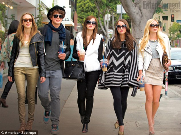 Move over Spring Breakers: The teenage heist flick, due out June 14, also stars Emma Watson, Leslie Mann, and Taissa Farmiga