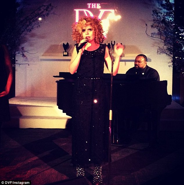 Song: The ceremony was followed by performances from British crooner Paloma Faith, who rocked ringlets and a black sparkly jumpsuit