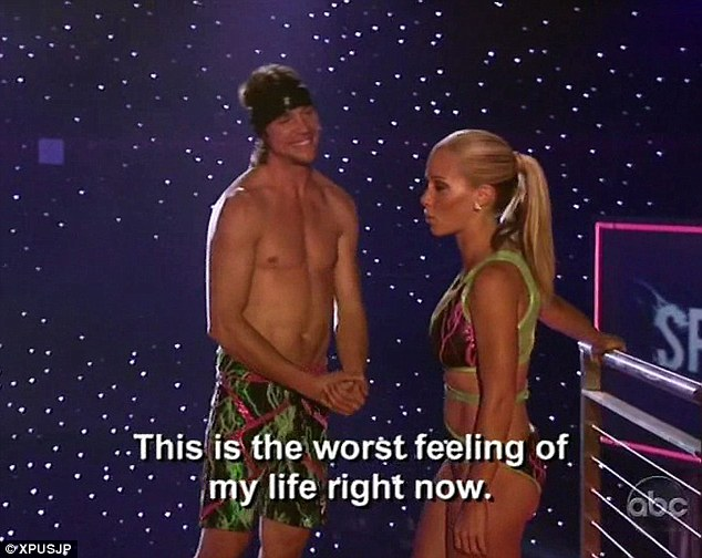 You're out! Kendra Wilkinson was eliminated after refusing to do her partner dive with Rory Bushfield