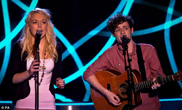 Lovely couple: Smith and Jones' harmonies were enough to secure their spot on Danny O'Donoghue's team