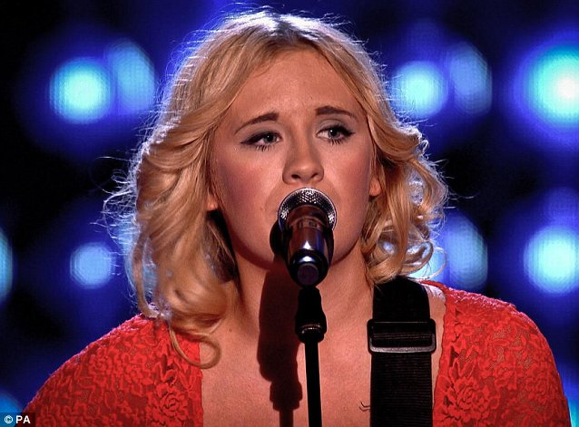 Country girl: Emma Jade Garbutt joined Tom's team after performing Guns 'N' Roses Sweet Child O' Mine