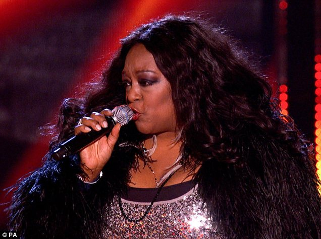 Not tonight: Kym Mazelle's performance of Ring Of Fire didn't entice any of the judges