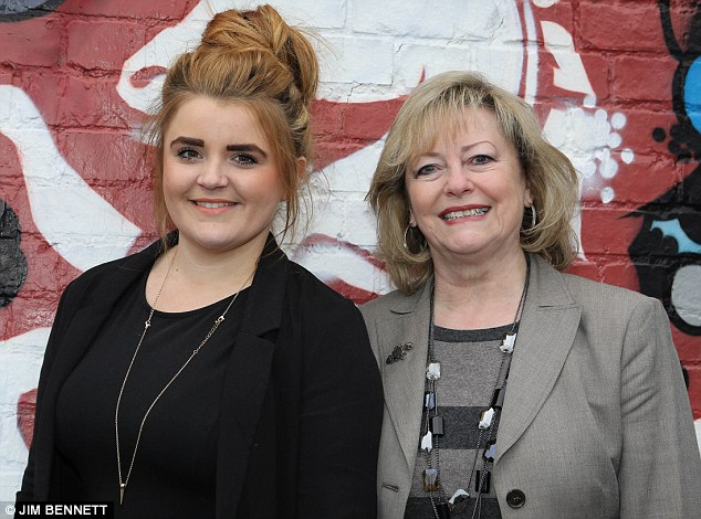 Outbursts: Kent Police and local Crime Commissioner Ann Barnes (right) has defended the teenager and asked for some perspective due to Miss Brown's age. The pair are pictured after Miss Brown was appointed to the role