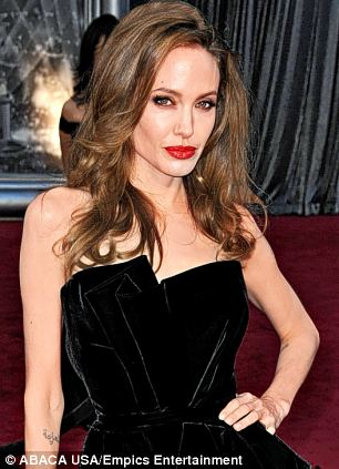 Angelina Jolie arriving at the 84th Annual Academy Awards